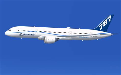 flying plane n787za flight test airplane boeing 787 8 for fsx