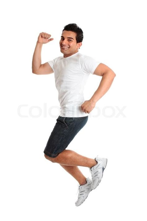 Would You Wear A Mans Clothes by An Excited Jumping Leaping Wearing Casual Clothes