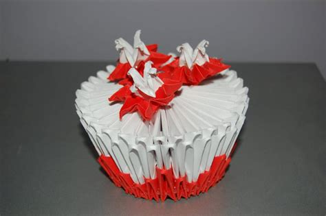 How To Make An Origami Cupcake - 3d origami cupcake by origami on deviantart