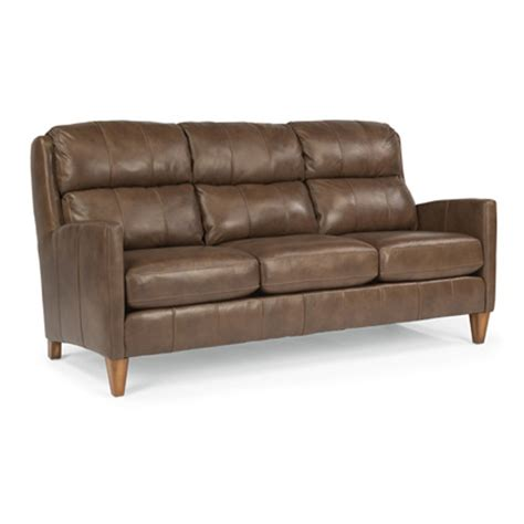 flexsteel leather sofas flexsteel b3667 31 reed leather sofa discount furniture at