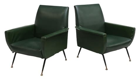 Mid Century Modern Arm Chairs by 2 Italian Mid Century Modern Leather Arm Chairs Important Two Day Auction Day One