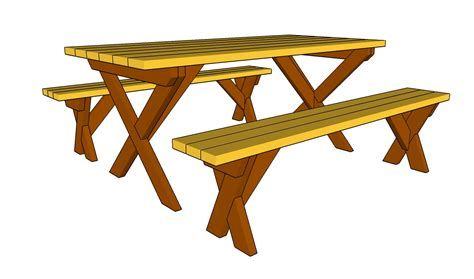 bench table plans picnic table images cliparts co