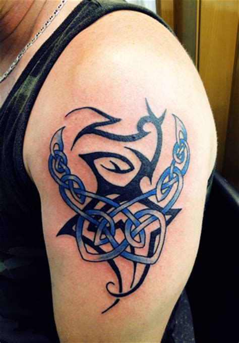 scottish tribal tattoo designs strength dragons