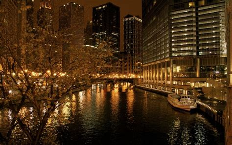 city of chicago light chicago city lights city lights city light and bridge