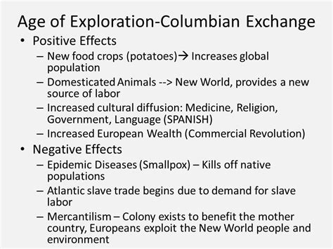 European Exploration Of The New World Essay by Movement Of And Goods Thematic Essay Ppt