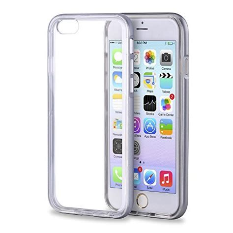 Indoscreen Iphone 7 Plus Free Ag Back Anti Anti Shock impactstrong 174 clear hybrid shell anti scratch clear back cover for apple iphone 6 impactstrong