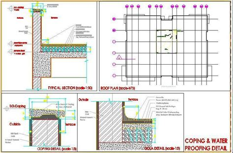 Parapet Wall terrace parapet wall coping and water proofing detail
