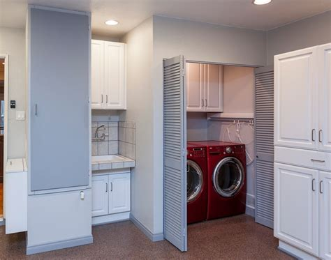 laundry in garage designs laundry room in garage decorating ideas with folding louvered doors decolover net