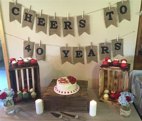 25  best ideas about 40th Anniversary Parties on Pinterest