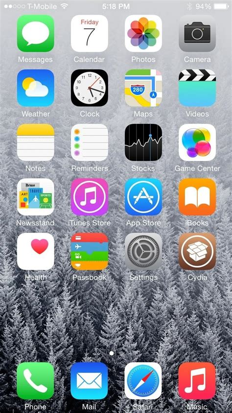 wallpaper iphone no dock make your iphone s dock transparent in ios 8 171 ios gadget