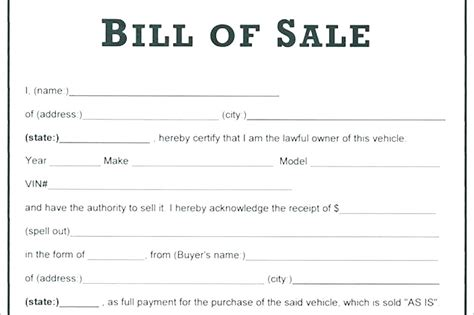 Generic Car Sales Receipt Template by Vehicle Receipt Of Sale Auto Bill Of Sale Template Resume