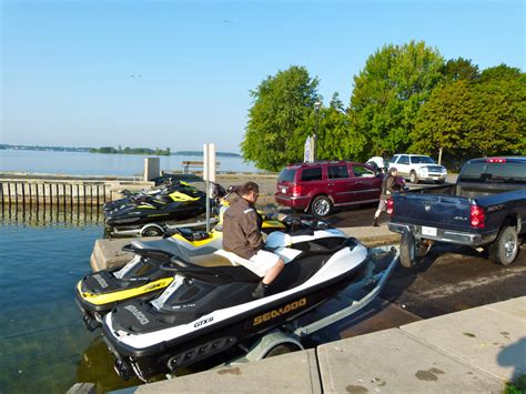 public boat launches ontario best boat launches for day trips on seadoo jetski and pwc