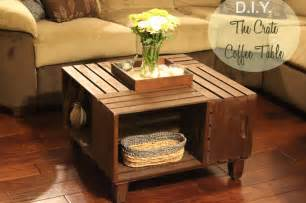 landing on d i y crate coffee table