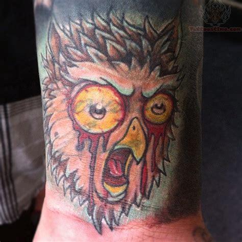 tattoo girl bleeding eyes bleeding eyes owl head tattoo
