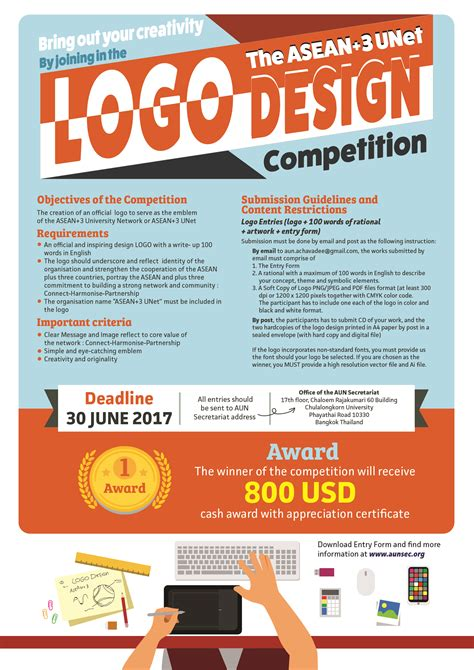 u design contest announcement call for participation in asean 3 unet logo