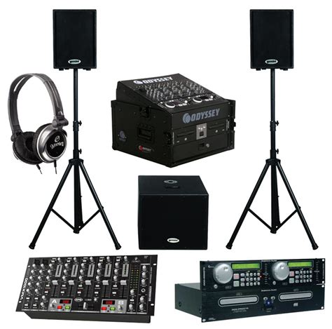 Mixer Monitor Audio dj package american audio dcd pro310 pro rack mount dual