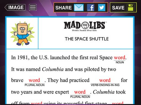free app of the day mad libs ipad kids