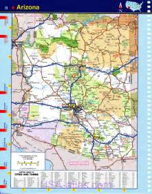 arizona map detailed arizona map