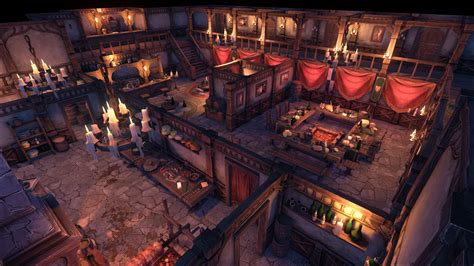 Interior Home Decorations by Medieval Inn And Tavern By Ennelia Studio In Environments