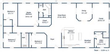 Metal ranch house floorplans free commercial floor plans house