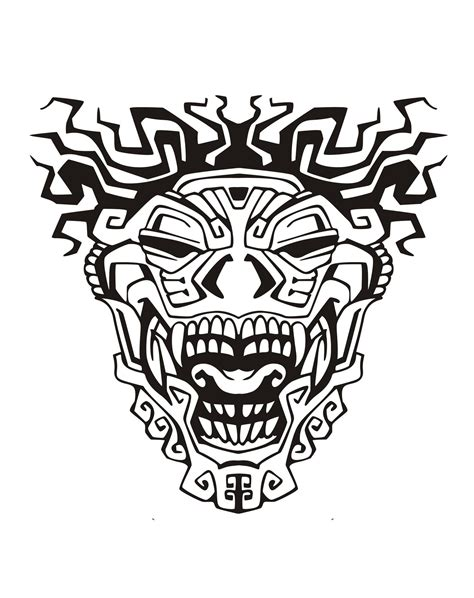coloring pages for adults masks mask inspiration inca mayan aztec 3 mayans incas