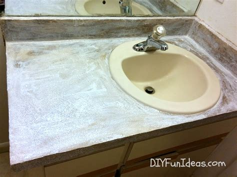 Concrete Countertop Skim Coat by Diy Concrete Counter Overlay Vanity Makeover