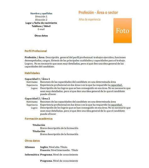 Modelo De Un Curriculum Funcional C 243 Mo Hacer Un Curr 237 Culum Vitae Funcional 6 Pasos