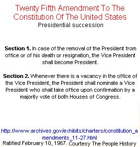 section 2 of the 25th amendment public domain images created by the people history or in