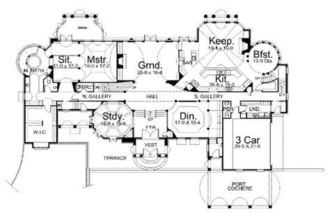 Chateau Plans by Chateau De La Ravinere 6037 5 Bedrooms And 4 Baths The