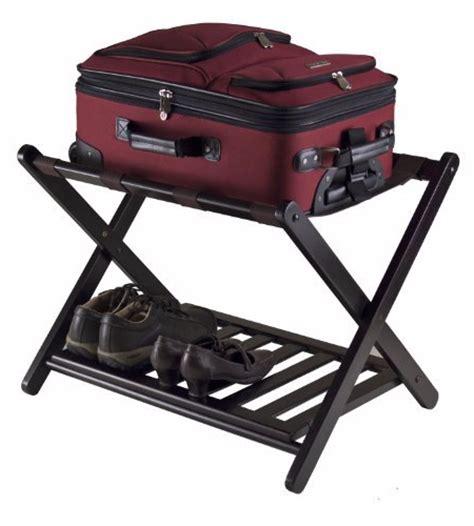 Folding Luggage Rack With Bottom Shelf by Luggage Rack Shelf Folding Wood Suitecase Shoe Furniture