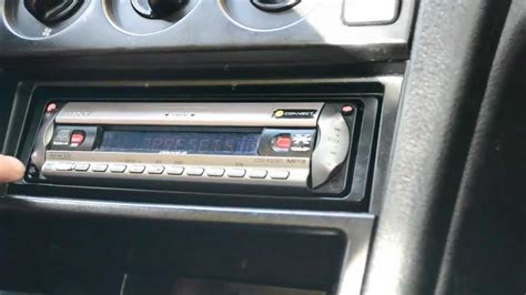 Sony Cdx Cda 590 Single Cd how to remove a car radio without special tools e