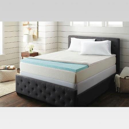 target mattress topper 2 quot temperature regulating memory foam mattress topper threshold target