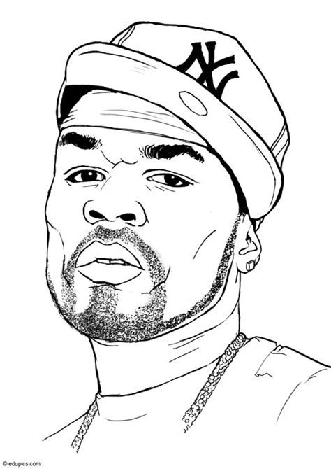 coloring book thug coloring page 50 cent img 15408