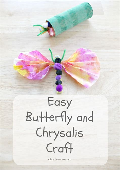Preschool Crafts For Easy Butterfly by Easy Butterfly And Chrysalis Craft For Cycling