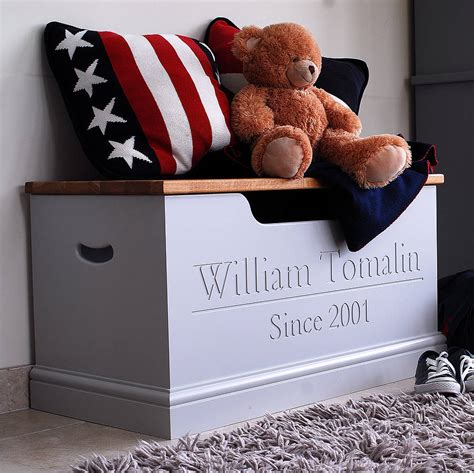 personalized childrens furniture personalised box or storage chest by chatsworth