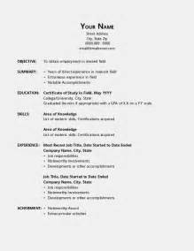 Resume Format For Office by Resume Template Open Office