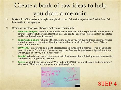 How To Write A Memoir Essay by Memoir Writing Process Steps