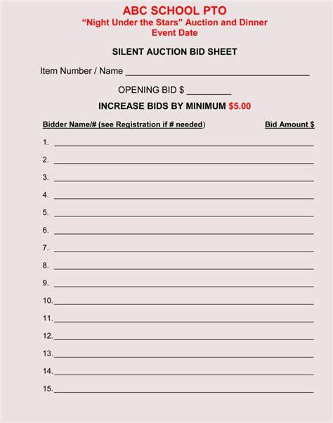 shh it s a silent auction bidding form advocacy pinterest