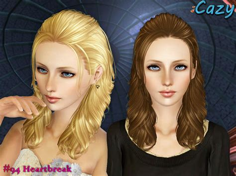 sims 3 hairstyle cheats cazy s heartbreak hairstyle set