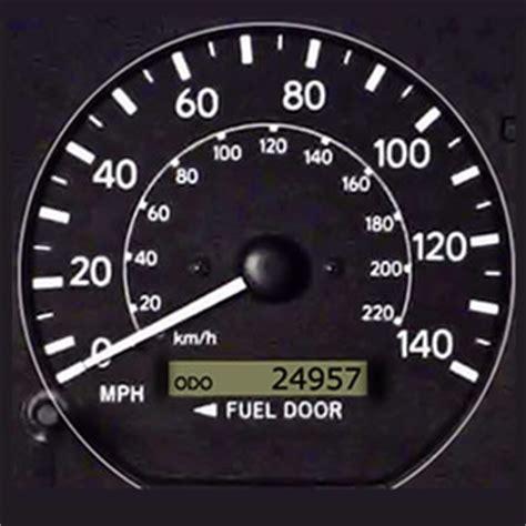 speedometer test car instrument panel driving test tips