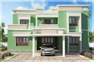 indian homes for indian flat roof villa in 2305 sq kerala home