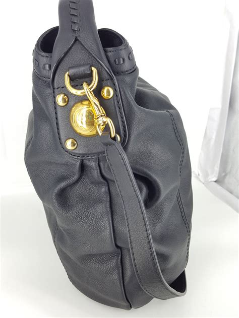 Sale Sepatu Gucci Blk Size 38 gucci black leather quot sunset quot hobo bag with gold hardware new for sale at 1stdibs