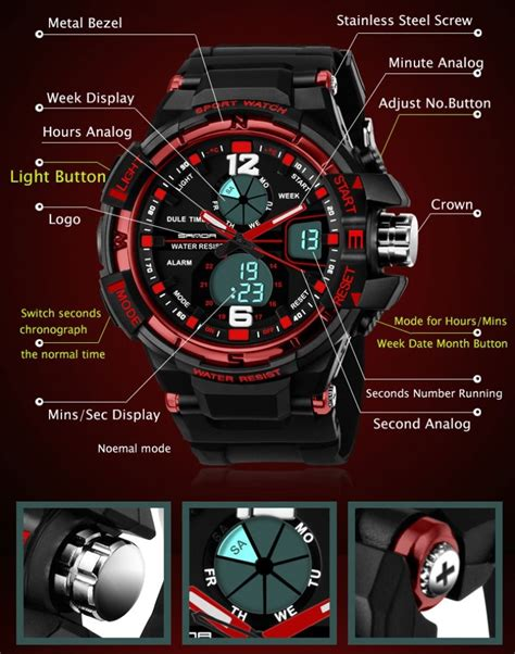 Jam Tangan Tissot Sporty sanda jam tangan sporty pria sd 289 black blue
