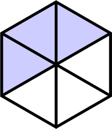 Geometry The Fraction Of The Larger Hexagon That Is - adding like fractions and mixed numbers free lesson