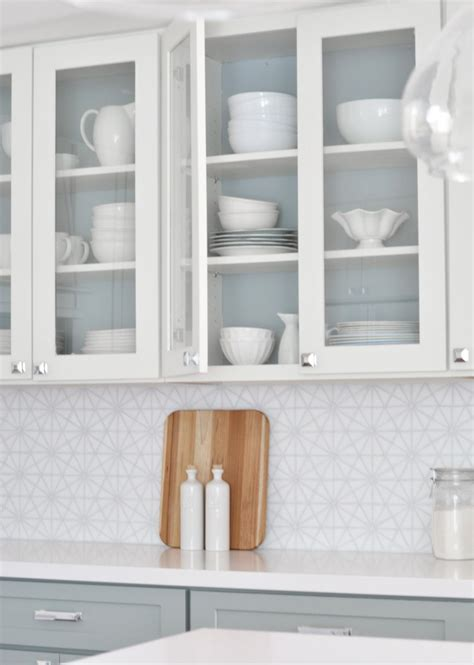 painting kitchen cabinets etc centsational girl painted interior glass cabinets