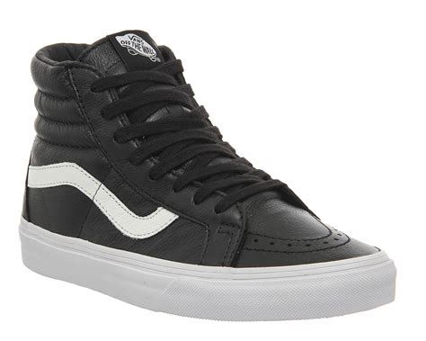 Vans Sk8 Hi Black Waffle Icc2 vans sk8 hi reissue black leather prem unisex sports