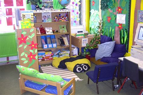 themes for book corners wild things book corner classroom display ideas
