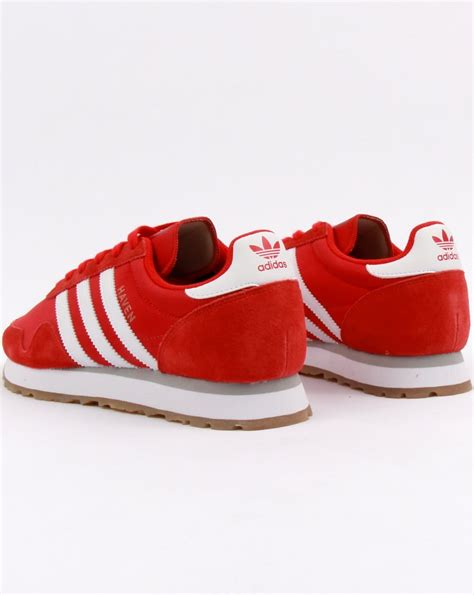 adidas haven adidas haven trainers red white gum mens running runners