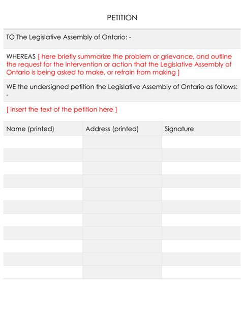 15 Professional Petition Template And Sles Petition Template Docs