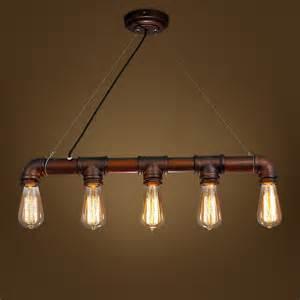 bar light fixtures retro steunk water pipe iron pendant l e27 rustic